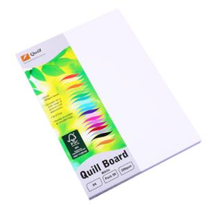 QUILL CARDBOARD A4 200GSM WHITE - PACK OF 50 SHEETS