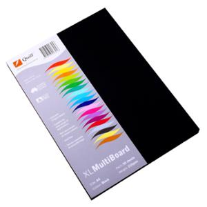 QUILL SURFACE BOARD A4 210GSM BLACK - PACK OF 50 SHEETS