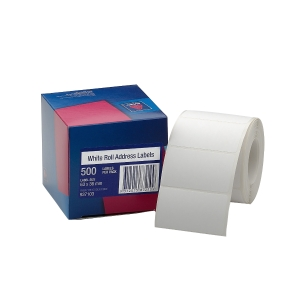 AVERY ROLL ADDRESS LABELS, 63X36MM, 500 LABELS, HANDWRITABLE