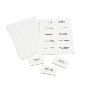 REXEL CONVENTION CARD HOLDER INSERT CARDS 90X55MM CLEAR - PACK OF 250