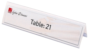 REXEL NAME PLATE LARGE 210X59MM CLEAR - BOX OF 25