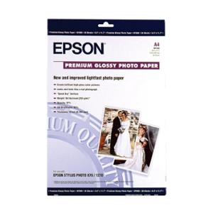 EPSON INKJET PREMIUM S041285 GLOSS PHOTO PAPER 250GSM A4 - REAM OF 20 SHEETS