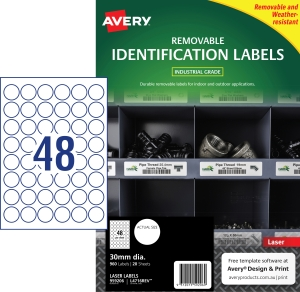 PK960AVERY L4716REV-20 H/DUTY LAB WH