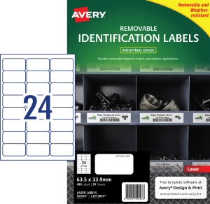 PK480 AVERY L4773REV-20 H/DUTY LAB WH