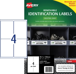 PK80 AVERY L4774REV-20 H/DUTY LAB WH
