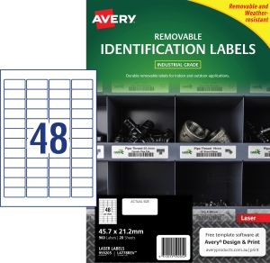 PK960 AVERY L4778REV-20 H/DUTY LAB WH