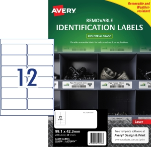 PK240 AVERY L4776REV-20 H/DUTY LAB WH