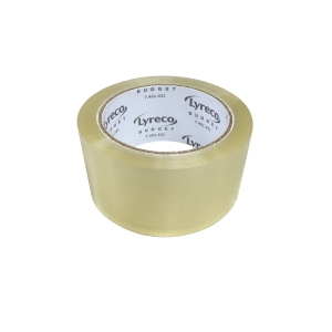 LYRECO PACKAGING TAPE 48MM X 75M CLEAR - TRAY OF 6 ROLLS