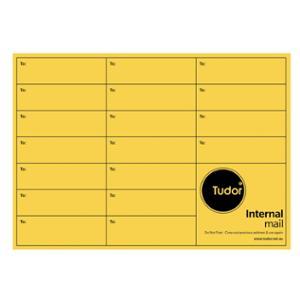 TUDOR INTEROFFICE GRID PRINT ENVELOPE TAC SEAL C4 GOLD - BOX OF 250