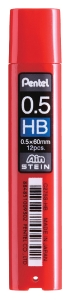 PENTEL AIN STEIN LEAD REFILLS HB 0.5MM - TUBE OF 12 LEADS
