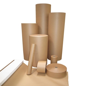 KLEENKOPY KRAFT PAPER WITH BOX DISPENSER 500MM X 70M BROWN - EACH