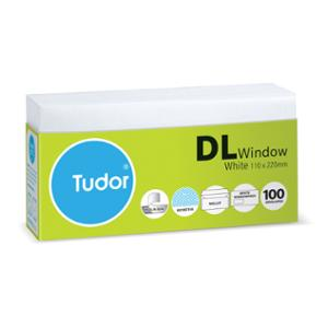TUDOR DL WINDOW WALLET SECRETIVE ENVELOPE WHITE - PACK OF 100
