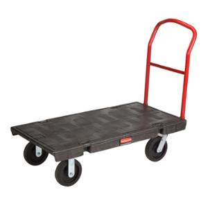 RUBBERMAID PLATFORM TRUCK 907.2KG CAPACITY BLACK/RED - EACH