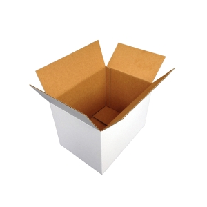 CUMBERLAND SINGLE WALL SHIPPING BOX 420 X 400 X 300MM WHITE - PACK OF 25