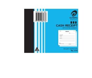 OLYMPIC 614 CASH RECEIPT DUPLICATE CARBON BOOK 100 X 125MM - EACH