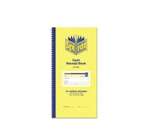 SPIRAX 553 CASH RECEIPT DUPLICATE CARBONLESS BOOK 272 X 144MM - EACH