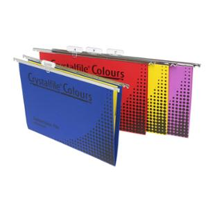 CRYSTALFILE COLOURED SUSPENSION FILES ASSORTED - PACK OF 25