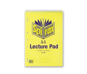 SPIRAX 905 TOP OPENING PUNCHED LECTURE NOTE PAD A4 140 PAGE - EACH