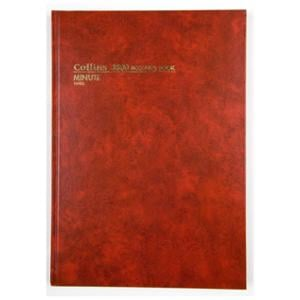 COLLINS 3880 SERIES MINUTE ACCOUNT BOOK A4 168 PAGE RED - EACH