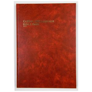 COLLINS 3880 SERIES FEINT ACCOUNT BOOK A4 168 PAGE RED - EACH