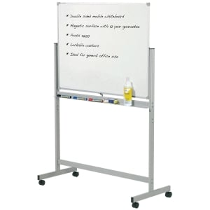 PENRITE MAGNETIC MOBILE WHITEBOARD 1800X1200M - EACH