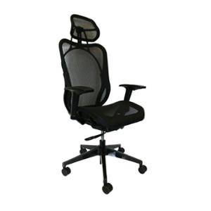 SEATING SOLUTION EXECUTIVE ADJUSTABLE MESH CHAIR WITH HEADREST - EACH