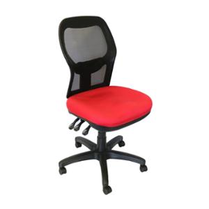 SEATING SOLUTIONS EM500 POSTURIGHT MESH BACK CHAIR RED - EACH