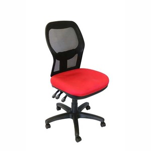 SEATING SOLUTIONS EM502 POSTURIGHT MESH BACK CHAIR WITH ARMS RED - EACH