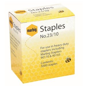 MARBIG STAPLES 23/10MM HEAVY DUTY - PACK OF 5000