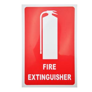 BANTEX  FIRE EXTINGUISHER  LOCATION SIGN LARGE 300MM X 450MM - EACH