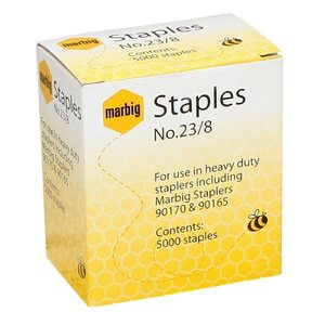 MARBIG STAPLES 23/8MM HEAVY DUTY - PACK OF 5000