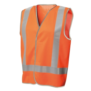 FRONTIER DAY/NIGHT VEST X-LARGE FLUORO ORANGE - EACH
