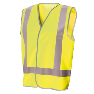 FRONTIER DAY/NIGHT VEST XX-LARGE FLUORO YELLOW - EACH