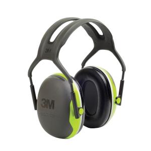 3M PELTOR X4A PREMIUM SERIES EARMUFFS BLACK/GREEN - EACH