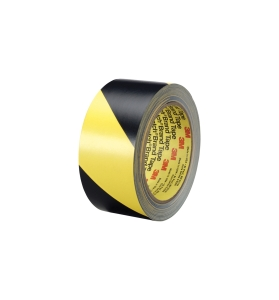 3M VINYL LINE MARKING TAPE 50MM X 33M BLACK/YELLOW - ROLL
