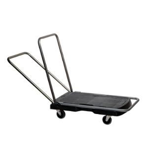 RUBBERMAID PLATFORM TRUCK 113.4KG CAPACITY BLACK/SILVER - EACH