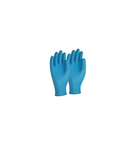 FRONTIER NITRILE MEDIUM DISPOSABLE GLOVES BLUE - BOX OF 100