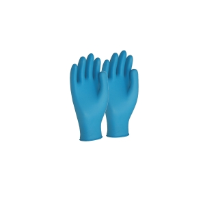 FRONTIER NITRILE EXTRA-LARGE DISPOSABLE GLOVES BLUE - BOX OF 100