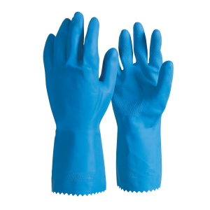 FRONTIER RUBBER LATEX SILVERLINED LARGE GLOVES BLUE - PAIR