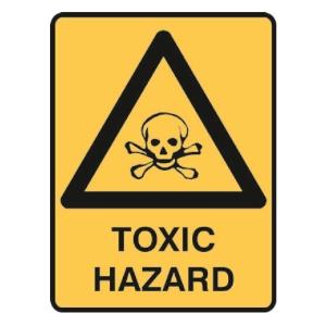 TRAFALGAR WARNING  TOXIC HAZARD  SIGN 300MM X 450MM - EACH