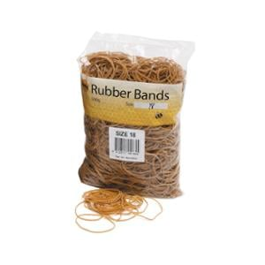 MARBIG RUBBER BANDS N°18 75X1.5MM - BOX OF 500 GRAMS