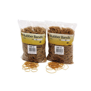 MARBIG RUBBER BANDS ASSORTED SIZES - BOX OF 500 GRAMS