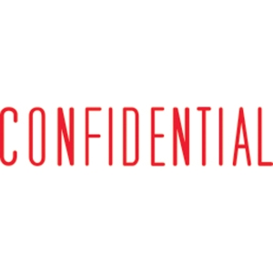 SHINY SELF-INKING  CONFIDENTIAL  STAMP RED INK - EACH