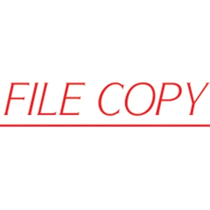 SHINY SELF-INKING  FILE COPY  STAMP RED INK - EACH