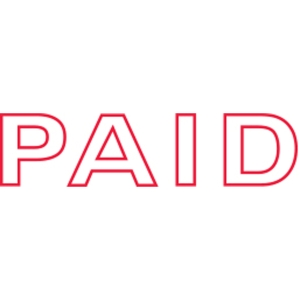 SHINY SELF-INKING  PAID  STAMP RED INK - EACH