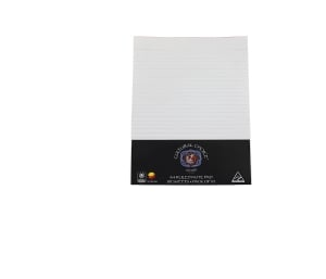 CULTURAL CHOICE A4 RULED NOTE PAD 80 SHEET WHITE - PACK OF 10