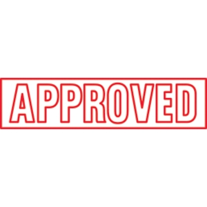 SHINY SELF-INKING  APPROVED  STAMP RED INK - EACH