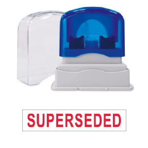 SHINY SELF-INKING  SUPERSEDED  STAMP RED INK - EACH