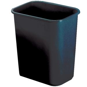 JASTEK PLASTIC WASTE BIN 26.5 LITRE 362 X 250 X 275MM BLACK - EACH