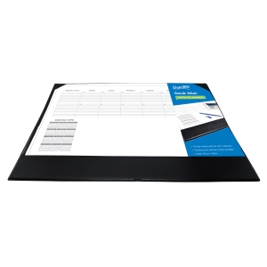 BANTEX REFILLABLE DESK MAT 450 X 590MM BLACK - EACH